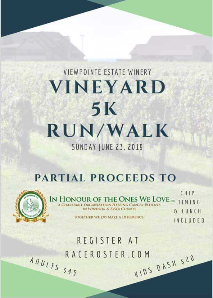 Viewpointe Vineyard 5k Run Poster