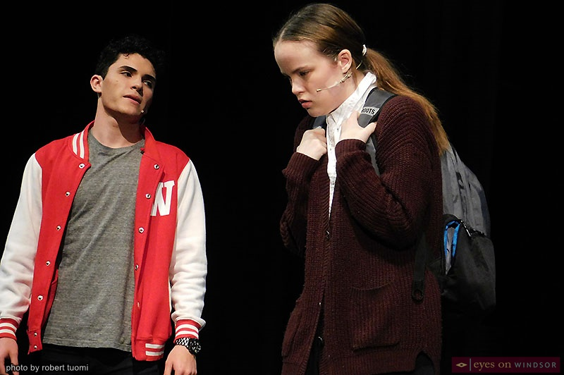 Actors Nick Palazzolo and Sydney White in Cardinal Music Productions presentation of Carrie The Musical