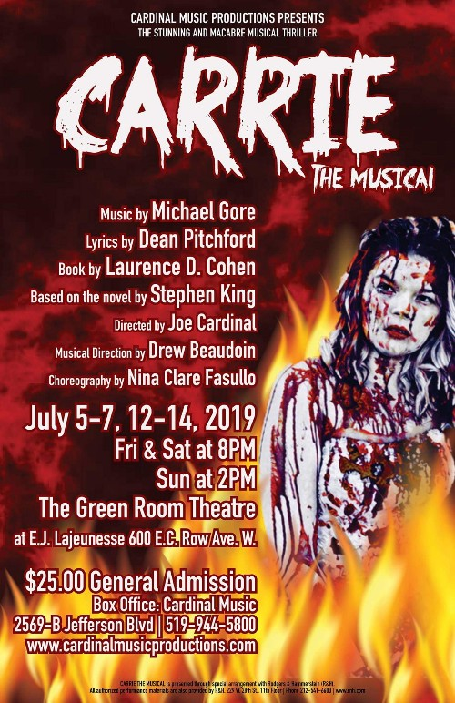 Carrie The Musical presented by Cardinal Music Productions Poster