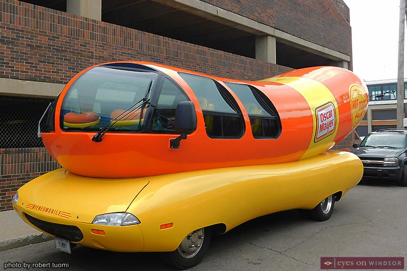 Oscar Mayer Wienermobile at Detroit's Festival of Books