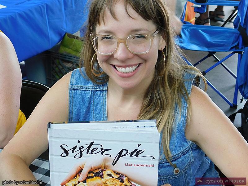 Author Lisa Ludwinski at Detroit's Festival of Books