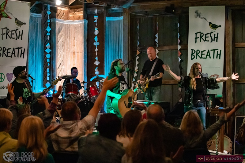 The Fresh Breath Band performing at Barn On the Farm