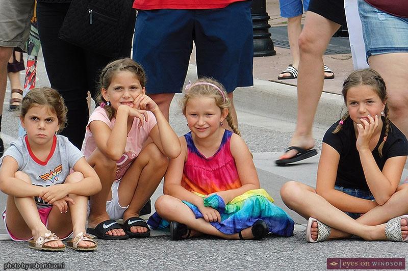 Children enjoying Walkerville Art Walk entertainment