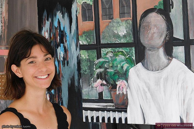 Artist Andrea Pollock at the Walkerville Art Walk