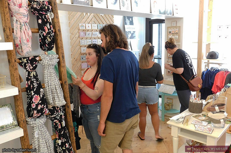 People shopping at Whiskeyjack Boutique