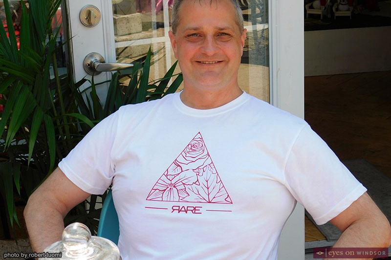 Brian Yeomans wearing a RARE Apparel T-Shirt at Whiskeyjack Boutique