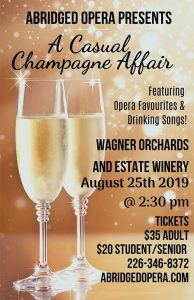 Abridged Opera A Casual Champagne Affair Poster