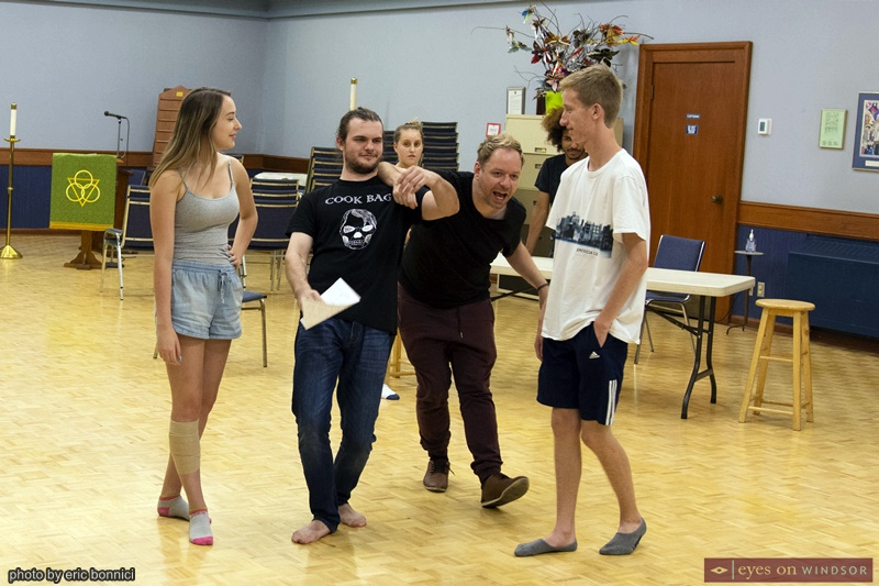 Cast of Footloose The Musical Rehearsing