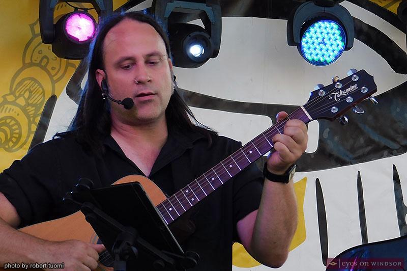 G.K. Mack performing at the Forks & Barrels Festival in Windsor