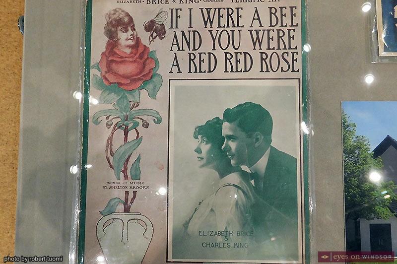 Sheldon Brooks songbook from Amherstburg Freedom Museum