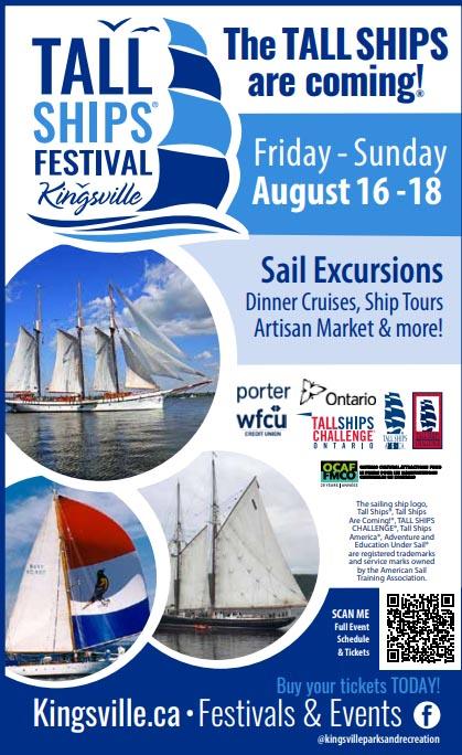 Kingsville Tall Ships Festival Poster