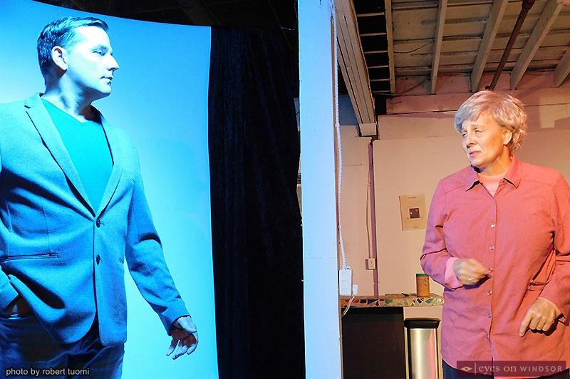 Actors Martin Ouellette and Allison Still