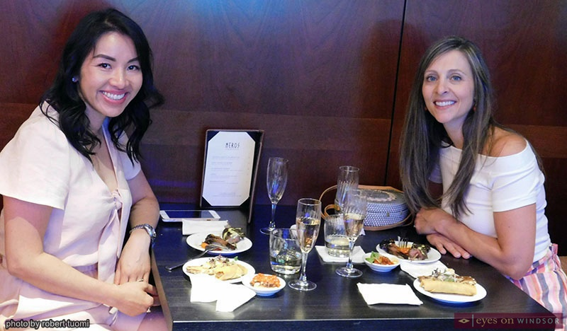 Customers enjoying Neros Steakhouse's Social Lounge
