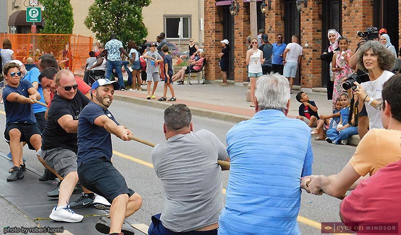 Men Tug-O-War Contest at St. Angela Merici Festival