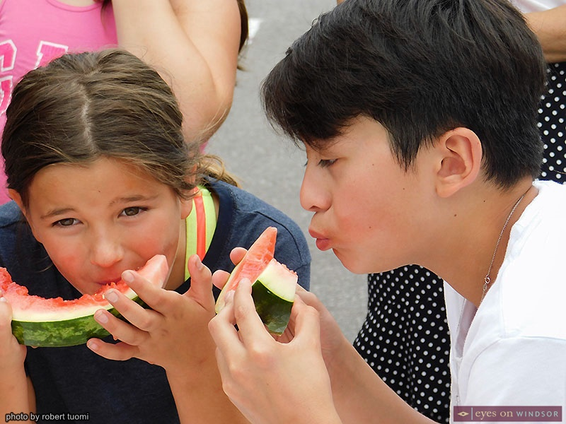 St. Angela Merici Festival Watermelon Eating Contest