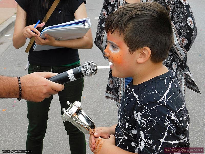 St. Angela Merici Festival Children's Watermelon Eating Contest Winner