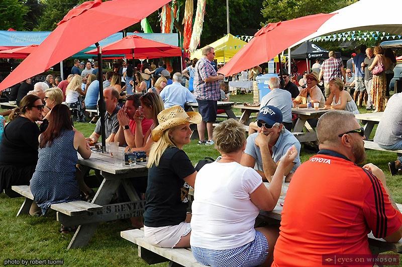 People enjoying Whiskytown Festival