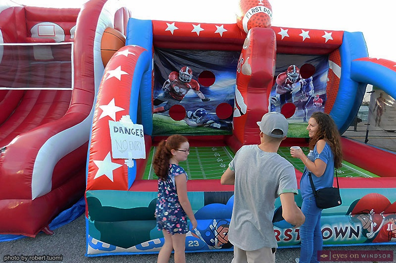 blowup football game at Windsor Ribfest