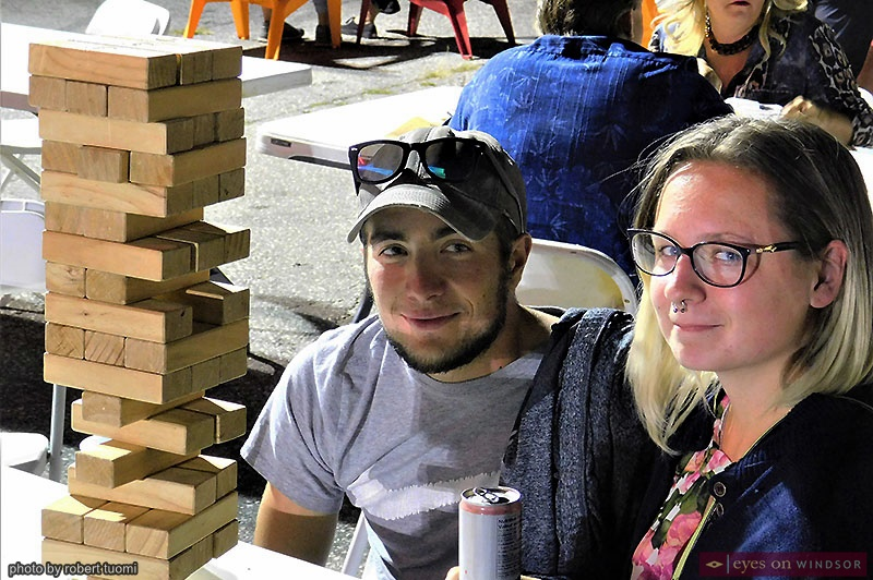People playing Jenga at Windsor Ribfest