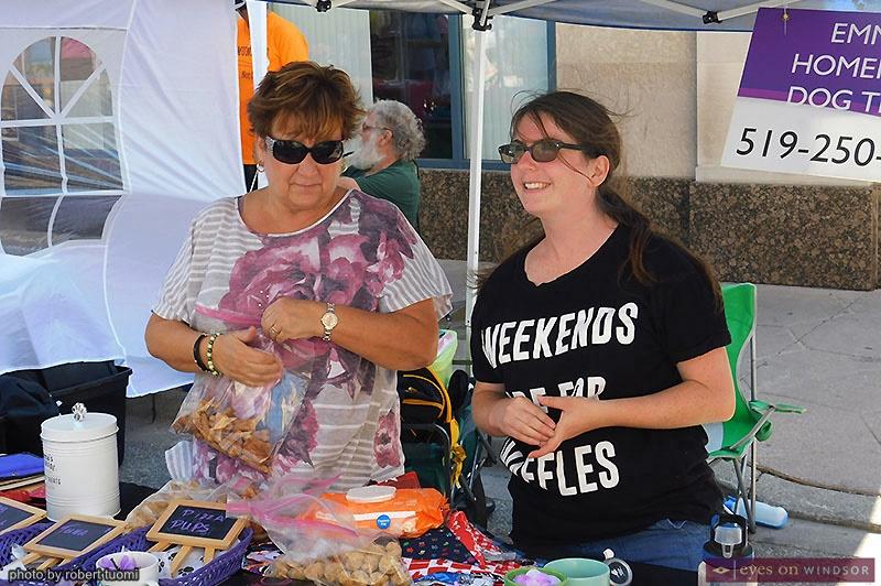 Kimmy Sandrin and Nadine Sandrin of Emma's Dog Treats at Open Streets Windsor
