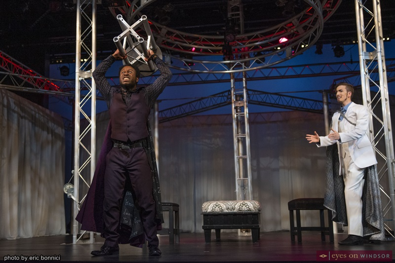 University of Windsor Drama Students Jamar Adams-Thompson and Cullen MacNaughton in Othello