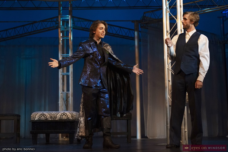 Jonathan Lombard and Dustin Sedore in UP Windsor's Othello