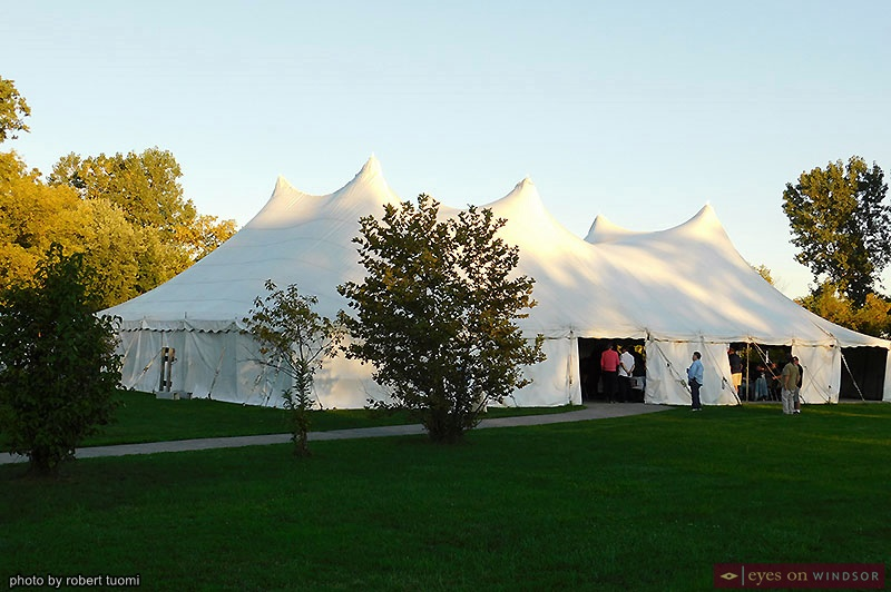 Outdoor party tent at the Riverside Sportsmen Club