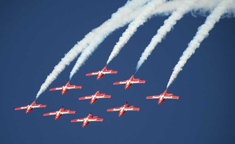 Canadian Forces Snowbirds flying in formation