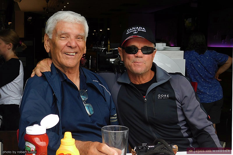Alan Henderson and Bob Young watching the Tour di Via Italia