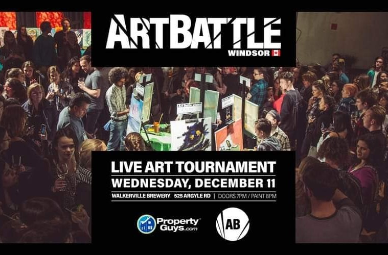 Art Battle Windsor Poster