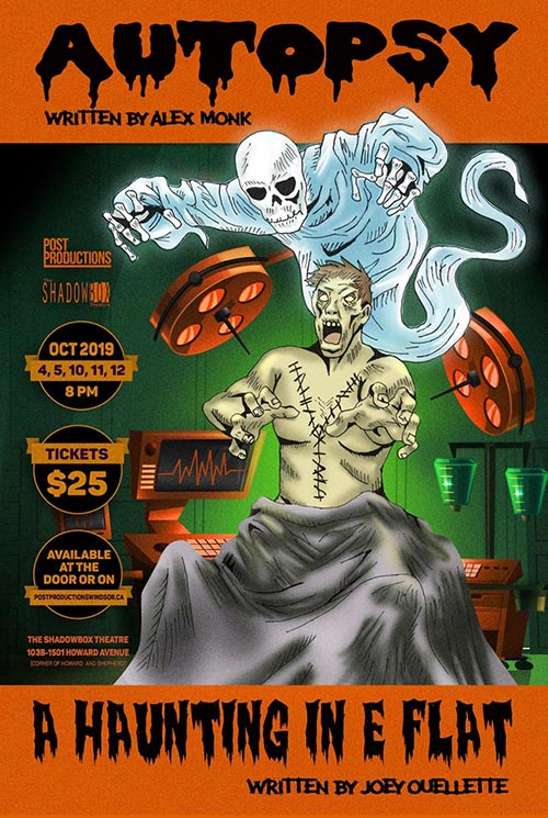 Post Productions Presents Autopsy & A Haunting in E Flat Poster