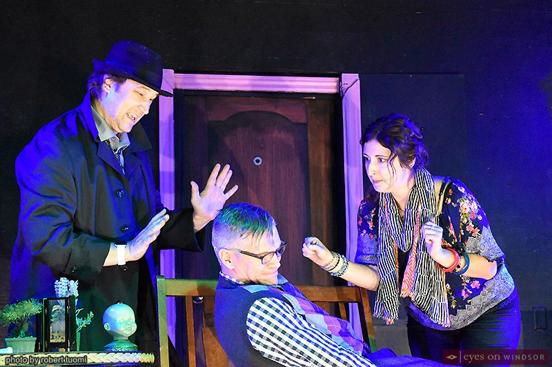 Post Productions' A Haunting in E Flat cast James Stone, Greg Girty, and Carla Gyemi