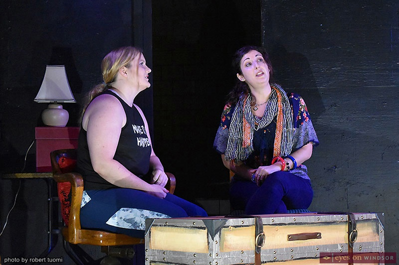 Post Productions' A Haunting in E Flat cast Rebecca Mickle and Carla Gyemi