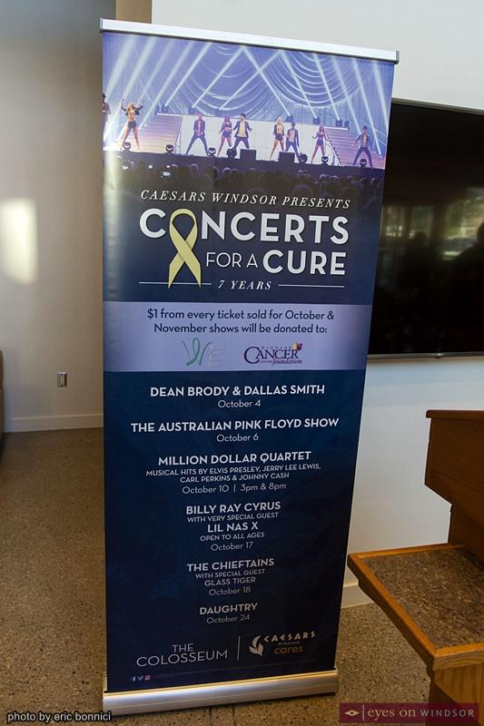 Caesars Windsor Concerts For A Cure banner