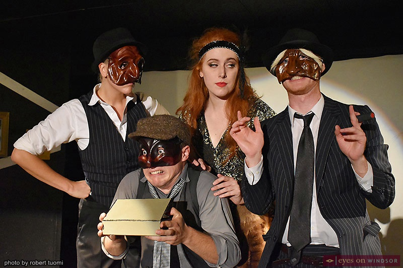 Tall Tale Theatre Co. cast of Commedia Noir