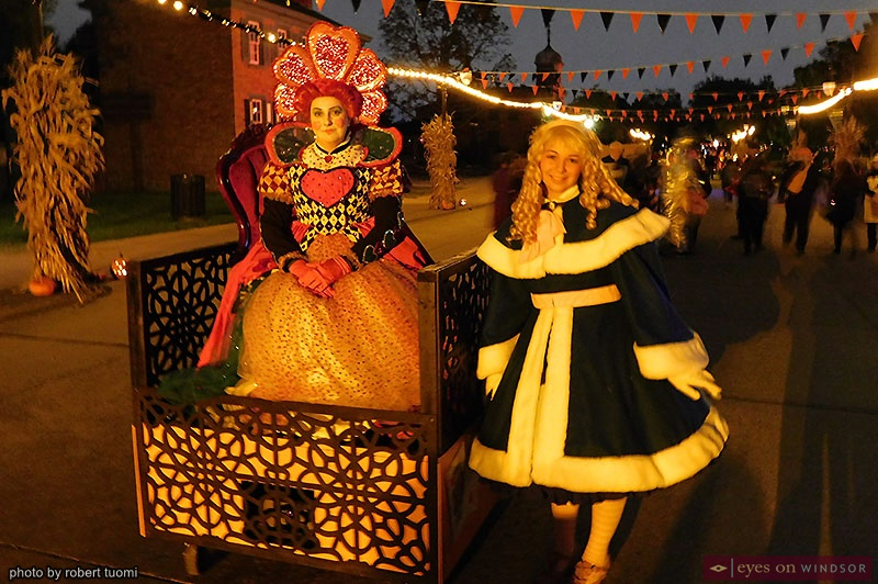 The Queen of Hearts and Alice at Hallowe'en in Greenfield Village