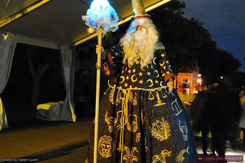 Merlin the Good Wizard at Hallowe'en in Greenfield Village