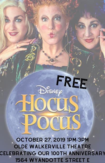 Disney's Hocus Pocus at the Olde Walkerville Theatre