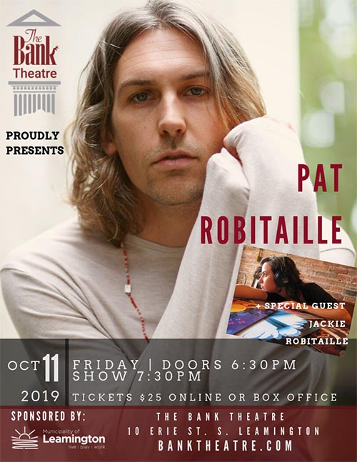 Pat Robitaille Concert at the Bank Theatre Poster