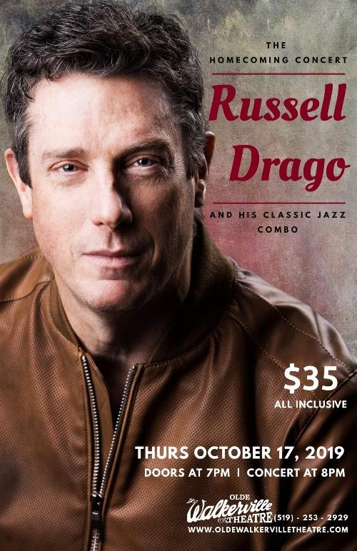 Russell Drago Conert Olde Walkerville Theatre Poster