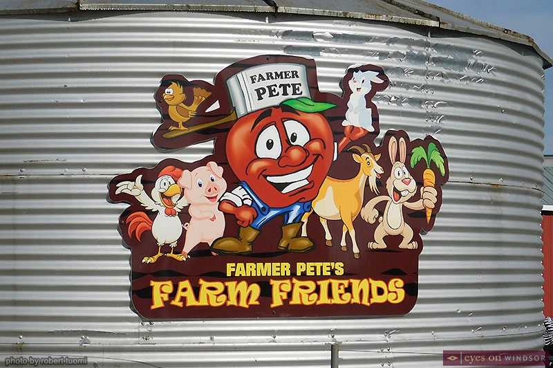 Farmer Pete and his farm friends at Thiessen Orchards