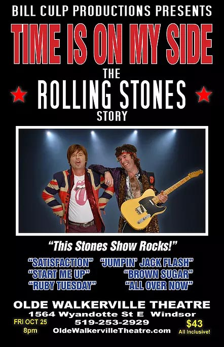 Time is On My Side Rolling Stones Story Tribute at the Olde Walkerville Theatre Poster