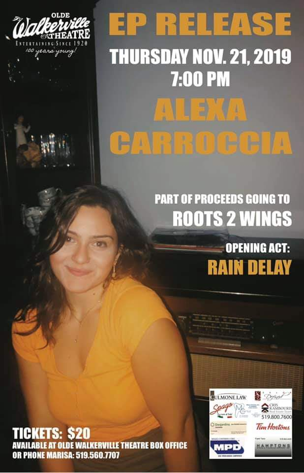 Alexa Carroccia EP Release Concert Poster