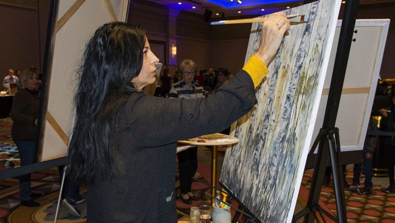 "Artilicious Windsor's Live Art Demo ""Easel-y"" Biggest Crowd-Pleaser of The Night"