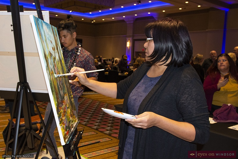 Artist Gulnaz Turdalieva at Artilicious Windsor