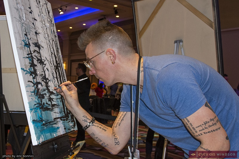 Artist Asaph Maurer at Artilicious Windsor