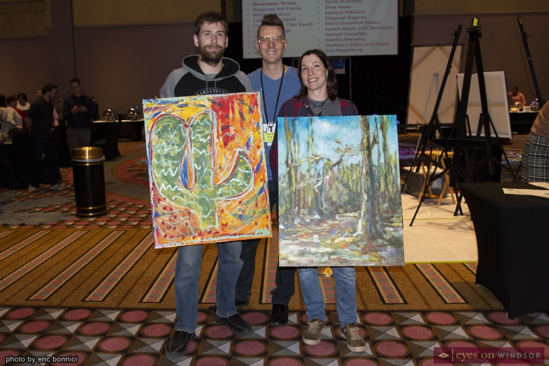Artilicious Windsor Art Demo / Art Battle auction winners