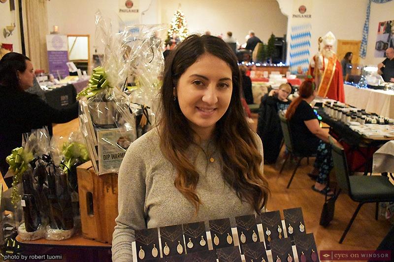 Amanda Madison at the Christkindl Markt at the Heimat Windsor Banquet Centre