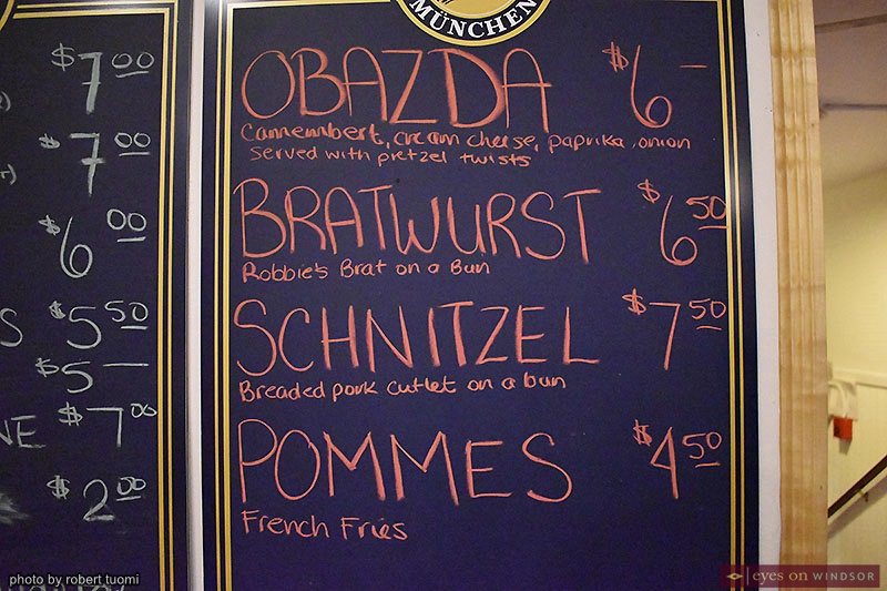 Christkindl Markt Heimat Windsor Food Menu