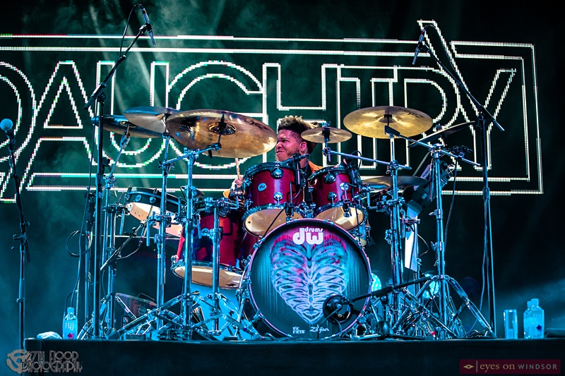 Drummer Brandon Maclin of Daughtry